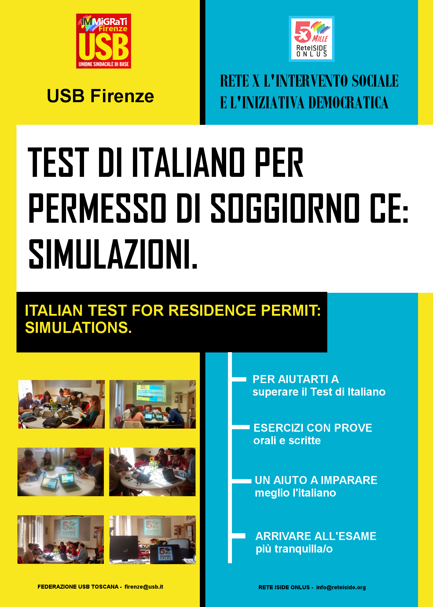 Italian Test for Residence Permit Simulation | Rete Iside ONLUS